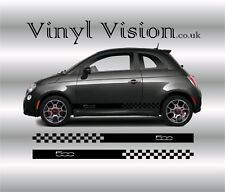 Fiat 500/500c side racing stripes stickers,decals,graphics