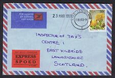 SOUTH AFRICA 1981 EXPRESS AIRMAIL LANDSDOWNE TO SCOTLAND FINE COVER