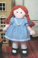 Poupée de chiffon, Raggedy Ann, toy sewing pattern