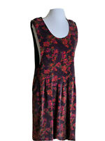 Bryn Walker Size 14 Sleeveless Jumper Velvet Dress 100% Cotton