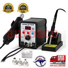 Desoldering Soldering Rework STATION YIHUA 8786D Hot Air Gun 3 Nozzles 10 tips
