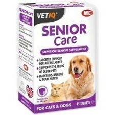 M&C VET IQ Senior Care Supplement - Dog & Cat - Joints - Immune System - 45