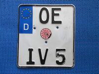 Germany  Moto Motorcycle License Plate Euro Stars Olpe