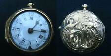 GOLD PLATED PAIR CASED REPOUSSE VERGE FUSEE 1760 POCKET WATCH