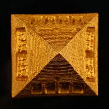 Golden Resin Egyptian Pyramid Statue Aquarium Fish Tank Home Decoration Ornament
