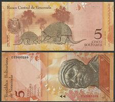 VENEZUELA 2007 5 Bolivares BANKNOTE UNCIRCULATED