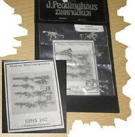 Peddinghaus Maschinenpistole Gewehre modern Zinnfigur 1:35 Modellbau Diorama usw
