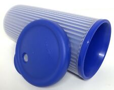 Tupperware Insulated Tumbler with Drip-Less Straw Seal 24 oz Blue New