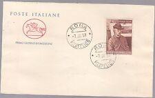 ITALIA BUSTA CAVALLINO POSTE ITALIANE 1958 GIOVANNI FATTORI ANNULLO ROMA FDC