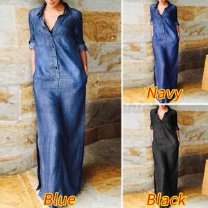 Denim Long Formal Dresses for Women for sale | eBay