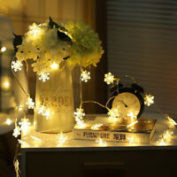 LED Festival  Lights Outdoor Indoor Garland Snowflake Fairy Lights Party Decor
