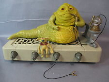 "STAR WARS Vintage ""JABBA THE HUTT THRONE PLAYSET"" 100% complete ROTJ 1983"