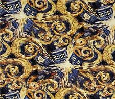DR WHO - EXPLODING TARDIS - Galaxy - Space - Time Travel-  Fabric - FQ