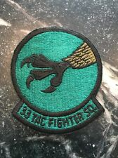 """VTG USAF 33 33rd Fighter Squadron PATCH Subdued Cold War 4"""" Rare Tactical talon"""