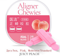 Pink Peach Aligner Chewie Invisible Brace Tray Seater Dental *20 PCS