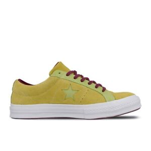 Converse Unisex One Star Ox Carnival Eclipse Yellow Suede Lace Up Trainers