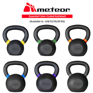 METEOR Cast Iron Kettlebell Powder Coating Cross Weight Lifting Dumbbell Gym