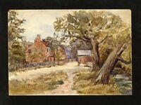 C.A. Grove - 1891 Watercolour - Thorpe Village