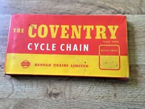 "THE COVENTRY Cycle Chain 1/2"" x 1/8"" pitches 110 England NOS."