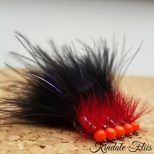 Orange Hothead Red Dancer Lure size 10 (Set of 3) Fly Fishing Flies Trout
