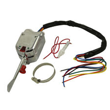 Chrome 12V Universal Street Hot Rod Turn Signal Switch For Chevy Ford Buick