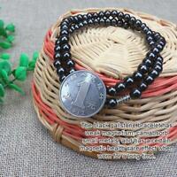 Schwarze magnetische Hämatit Perlen Gesundheitswesen Halskette Frauen Männer