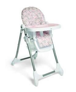 Mamas & Papas Snax Adjustable Highchair, Removable Tray Insert - Alphabet Floral