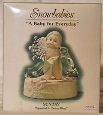 "Snowbabies Department 5  ""A Baby For Everyday"" Sunday,Special In Every Way. NIB"