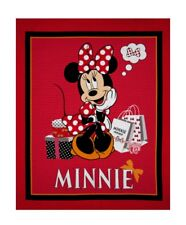 DISNEY MINNIE MOUSE TRADITIONAL QUILT PANEL* NEW * FREE POST *