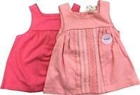 BNWT Girls F&F 2 Pack Pink Pattern Tops Size 0-3 Months EK214