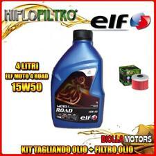 KIT TAGLIANDO 4LT OLIO ELF MOTO 4 ROAD 15W50 HONDA TRX420 FPM Fourtrax Rancher 4