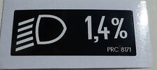 Land Rover Defender 90 110 TDi Headlamp Decal Label Badge Information PRC8171