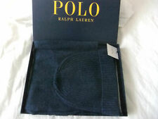 RALPH LAUREN Beanie Hat & Scarf 50% CASHMERE 50% WOOL BLUE HEATHER IN GIFT BOX