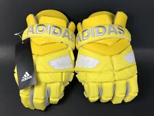 New Adidas Dipped Freak G Men's Lacrosse Gloves Yellow Climacool Size 12