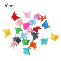20pcs Mini Hair Claws Candy Colour Hair Clips Butterfly Hair Clamps Accessories