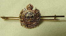 Military WW1/2 Officers Royal Engineers 9ct Gold Sweetheart Brooch Badge (3903