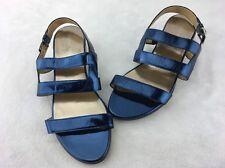 Stuart Weitzman Barrio Blue Specchio Slingback Sandal Size 9M  B769#