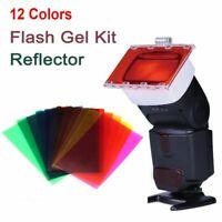 - gel flash speedlite diffusor kamera farbfilter - kit For Canon Sony Nikon