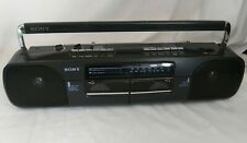 Sony Cfs-W303 Radio Dual Cassette Boom Box 1990s Tested Works Has Power Cord