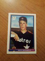 JEFF BAGWELL Houston Astros RC Baseball 1991 BOWMAN ROOKIE CARD