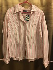 new womans plus size 22W lands end dress shirt plus 22W clothing shirt clothes