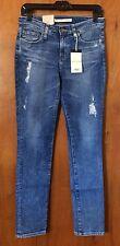 BIG STAR Distressed Jeans Size 27 BRIGETTE $118 Mid Rise Straight Denim Pant