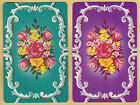 2 SINGLE VINTAGE SWAP PLAYING CARDS ID FLOWERS 'BOUQUET- FM-8-5' DAFFODIL