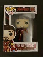 Funko Pop Iron Man Unmasked Tony Stark 94 Avengers Ultron End Game Infinity War