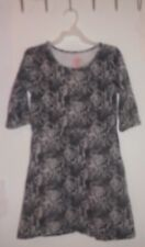 Faded Glory Dress-Black & White Animal Print-Pre-owned-Very Good Cond.-L(10-12)