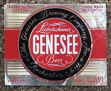 Irtp Genesee Liebotschaner Foil Beer Label. Genesee Brewing Co. Rochester, Ny