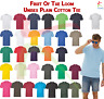 Fruit of the Loom New Blank Cotton T-Shirt Plain Unisex Casual Summer Tee TShirt
