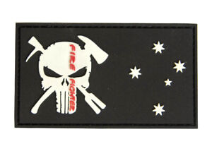 PVC Punisher Firefighter Patch - New