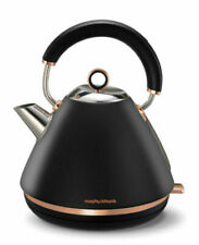 Morphy Richards Accents 102107 1.5 L Traditional Pyramid Kettle - Black/Rose Gold