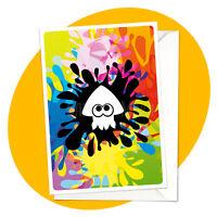 Inkling Squid BLANK GREETING CARD - splatoon gamer nintendo birthday occasion